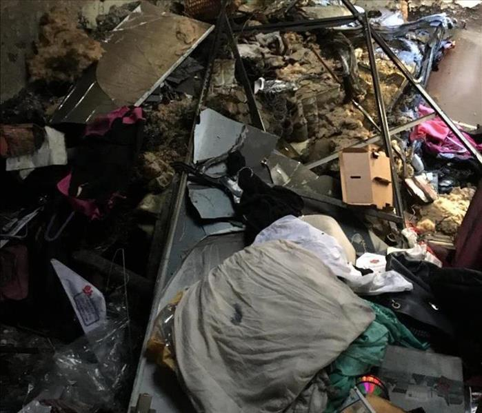 Extensive Smoke Damage in Long Beach, CA.  Before